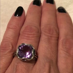 Or Paz Sterling Silver Amethyst Ring
